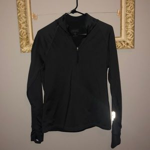 Athleta - woman's (L) grey reflective quarter zip